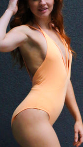 SASHA Low cut V-neck one-piece swimsuit-Chika Boom Boom