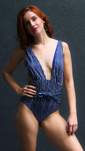 COCO Low cut V-neck one-piece swimsuit-Chika Boom Boom