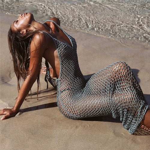 FERNANDA Fishnet Tunic Dress