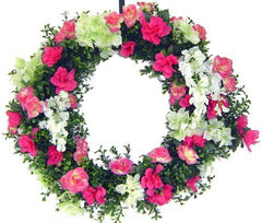Floral & Boxwood Wreath - 24 inch