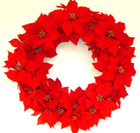 Pointsettia Wreath -  30 inch