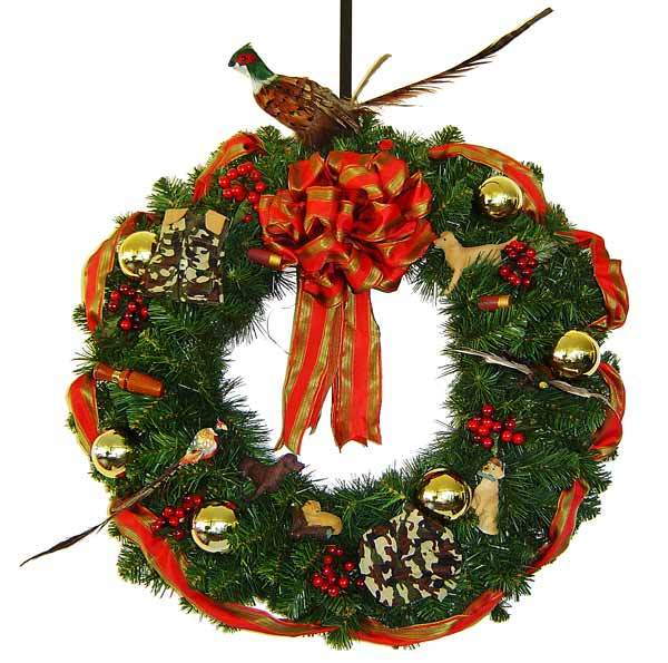 Christmas hunting wreath awesome wreaths - Awesome christmas wreath with homemade style ...