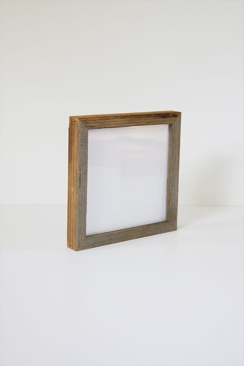 "8"" x 8"" Reclaimed Gallery Wood Frame"