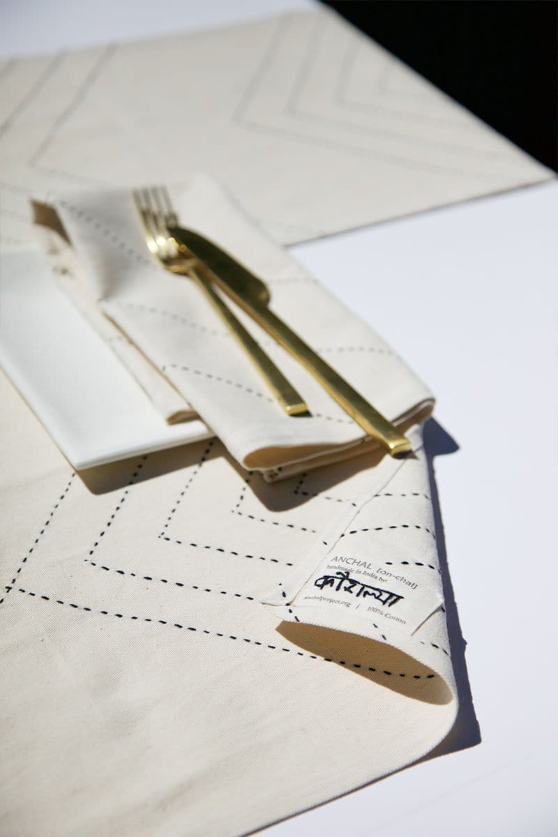 Organic Arrow Placemat - Set of 2 in Bone