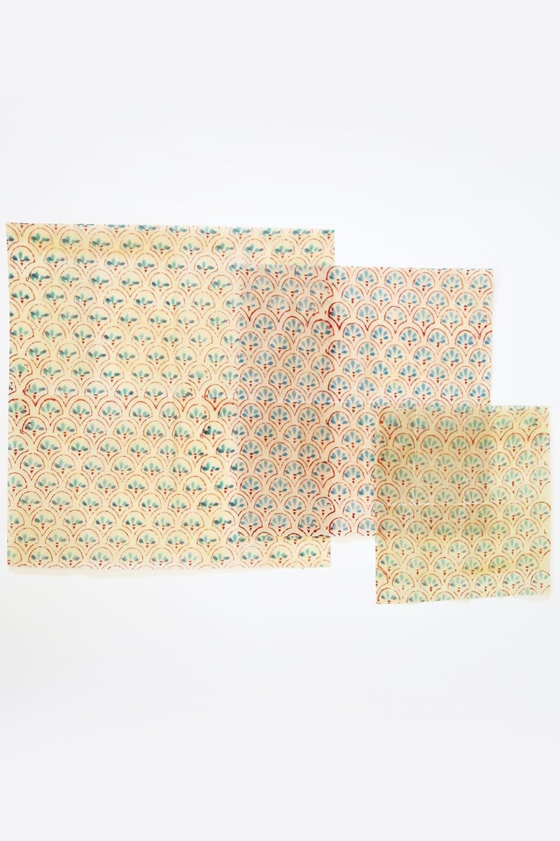 Beeswax Wraps, Pack of 3