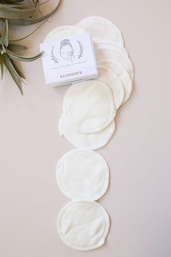 Organic Reusable Cotton Rounds - Set of 10