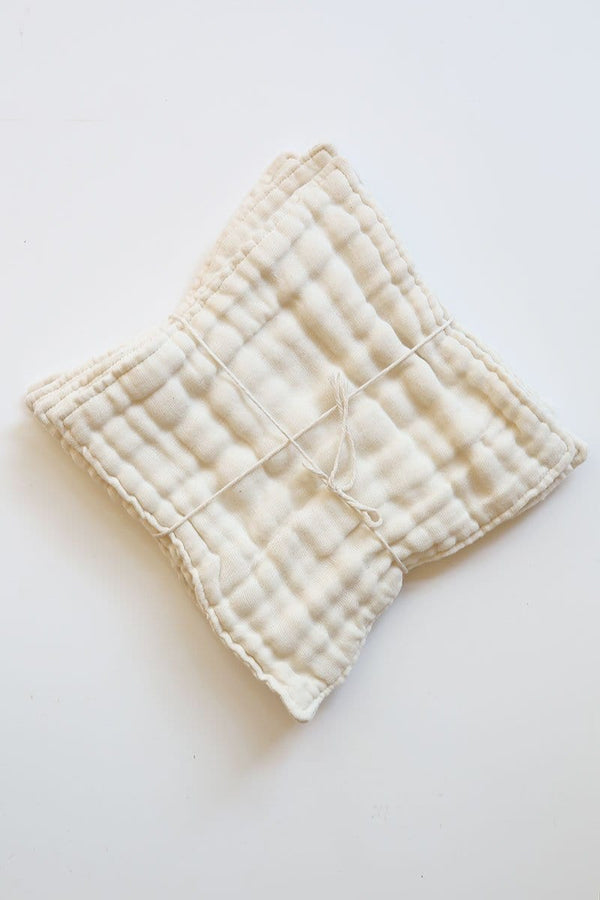 Organic Facial Wash Cloths - Set of 4