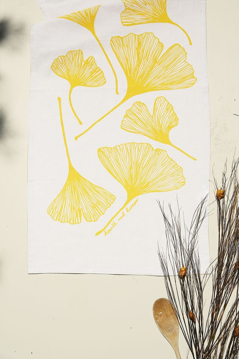 Ginkgo Leaf Tea Towel