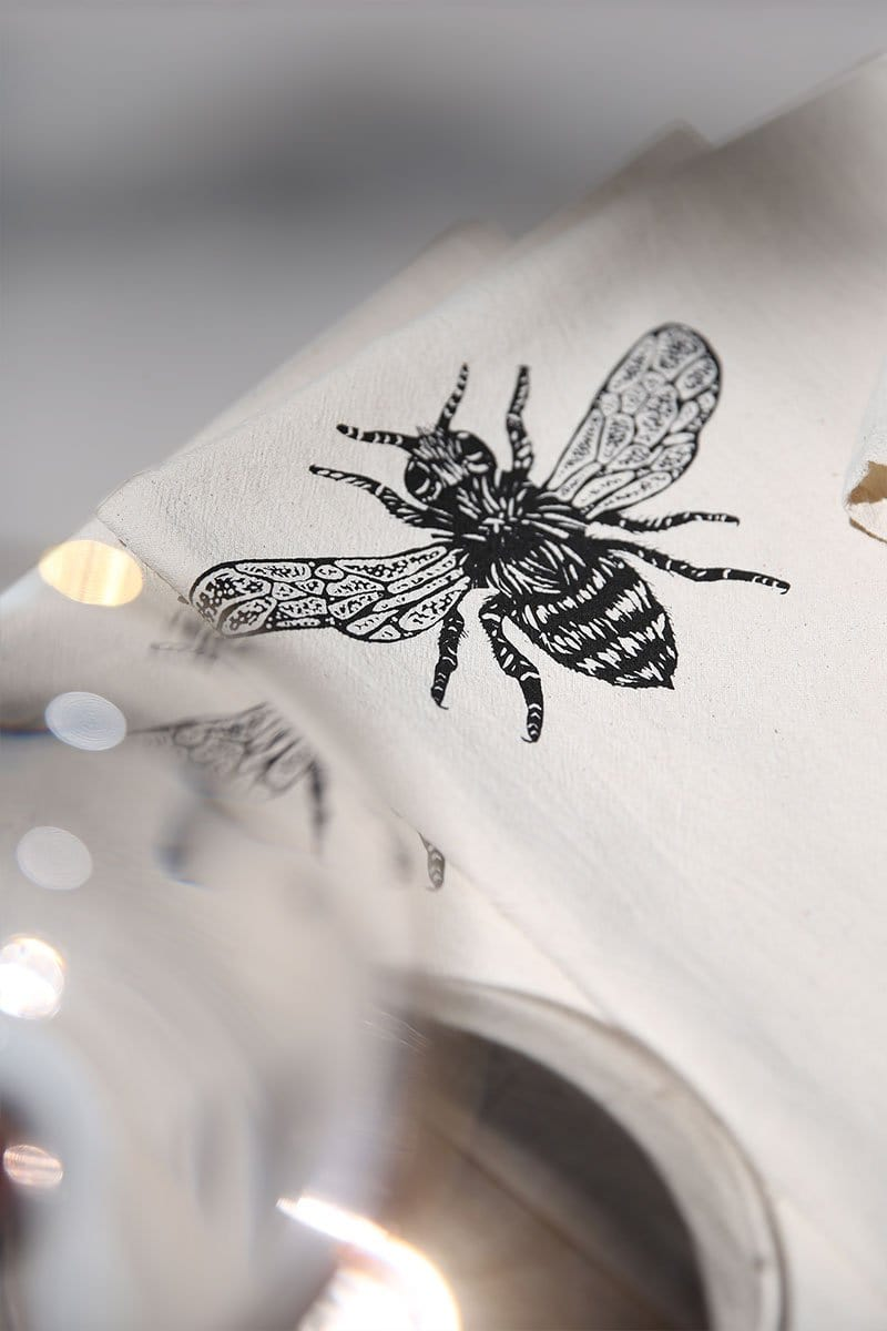 Organic Honeybee Cloth Napkins - Set of 4