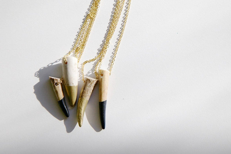 Dipped Deer Tine Necklace