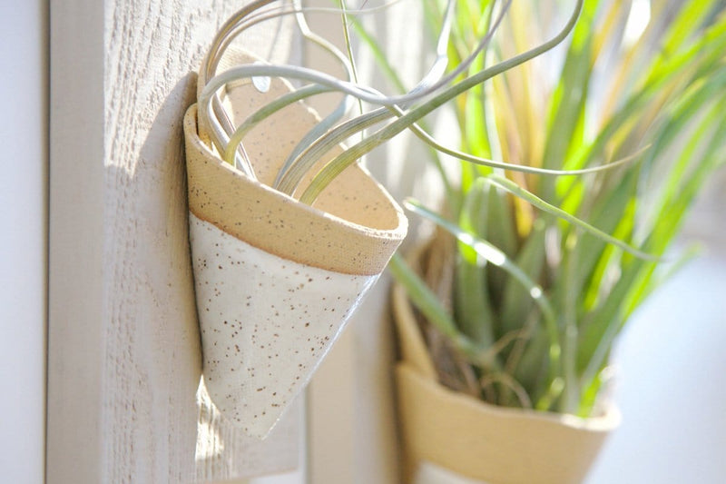 Speckled White Air Planters