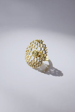 Bombshell Honeycomb Ring