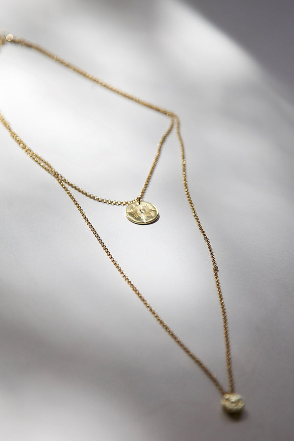 Layered North Star Bullet Necklace