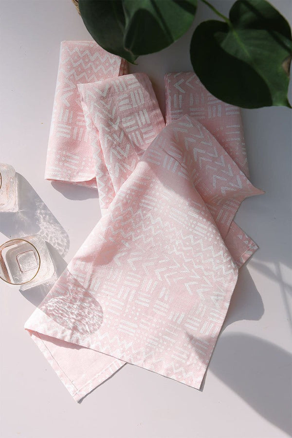 Pink Mudcloth Napkin - Set of 4