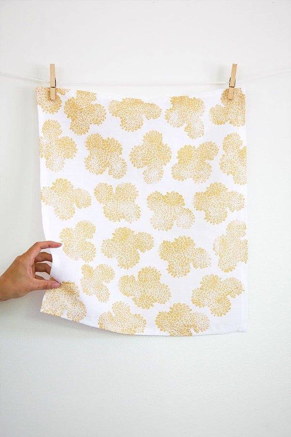 Gold Mums Napkin - Set of 4