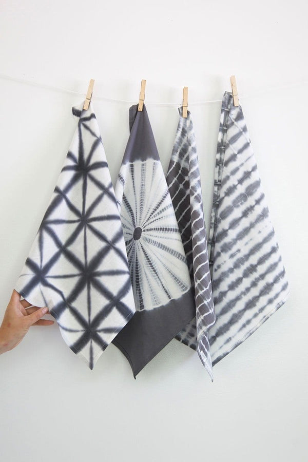 Shibori Napkins in Gray - Set of 4