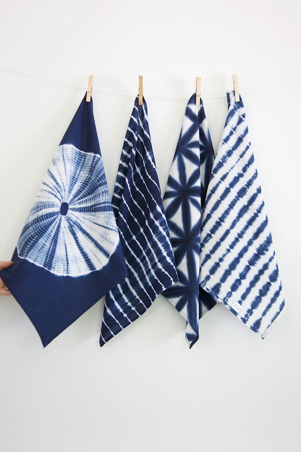 Shibori Napkins in Indigo - Set of 4