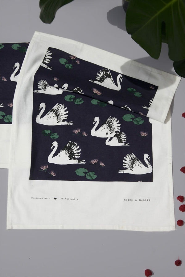 Swan Lake Tea Towel