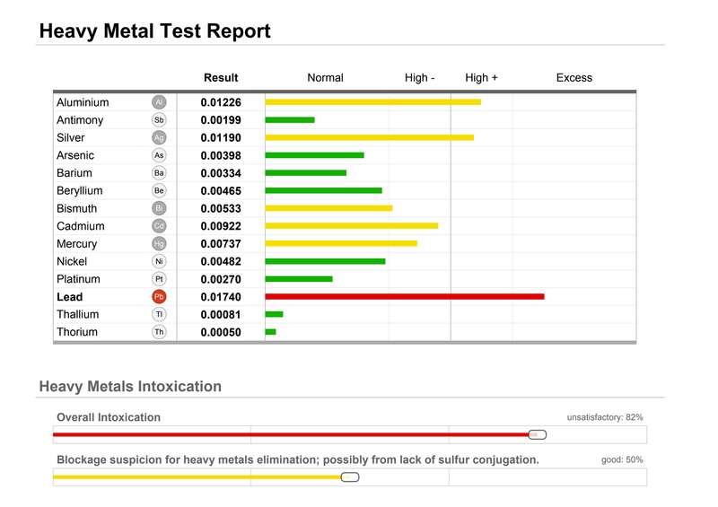 Heavy Metals + Minerals Scan and Analysis