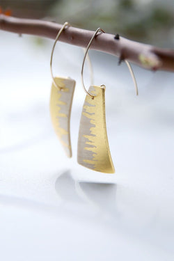 Sail Sycamore Wood Earrings