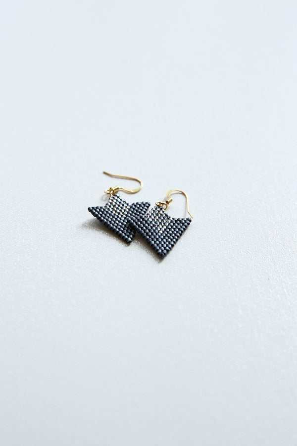 Matte Black Arrow Earrings