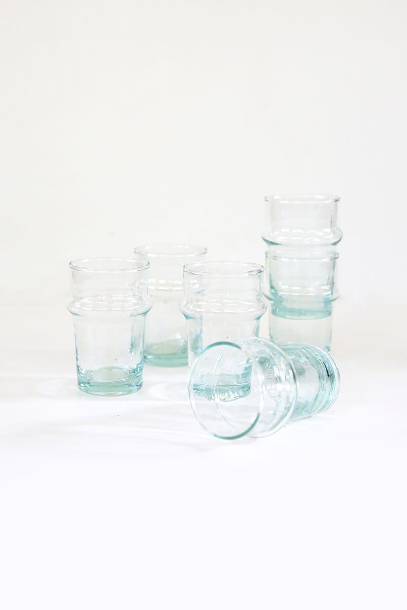 Blown Recycled Glass Beldi (Set of 6)