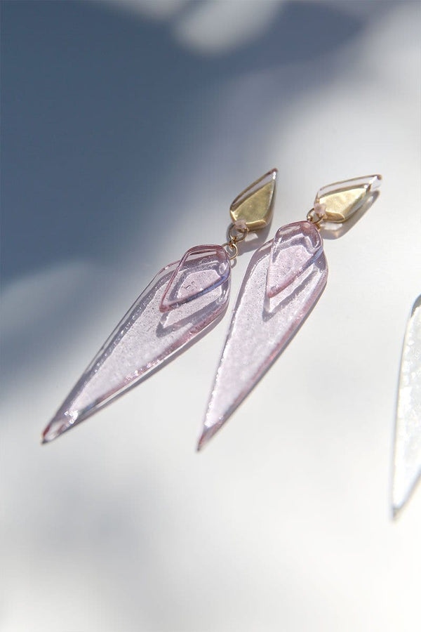 Double Deco Dagger Drop Earrings