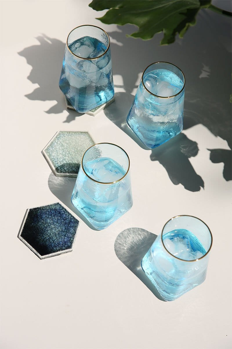 Celine Sky Blue Glassware (Set of 6)