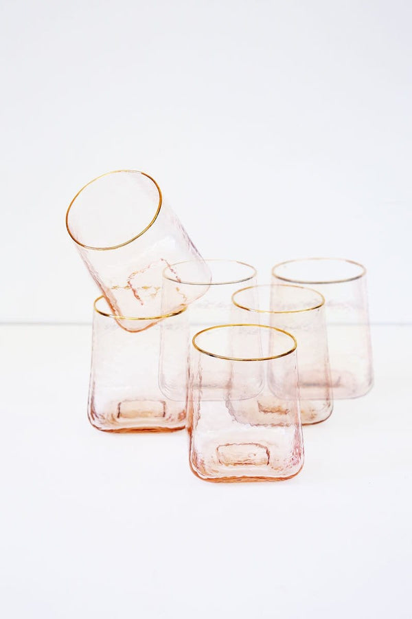 Celine Rose Pink Glassware (Set of 6)