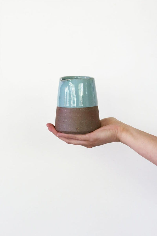 Terracotta Blue Tapered Jug