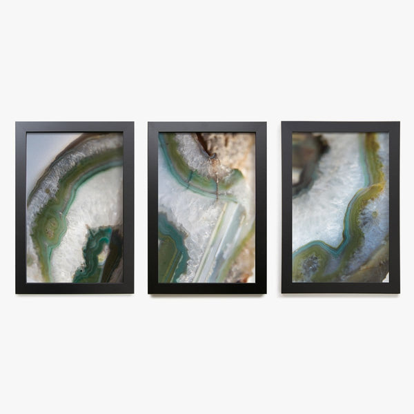 Green Agate Print, Set of 3
