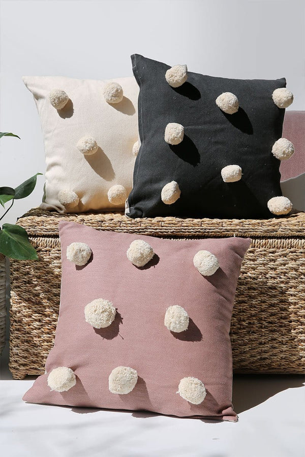 Pom Pom Pillow Cover