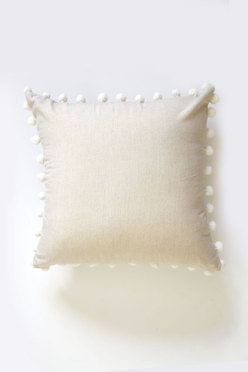 Pompom Fringe Pillow Cover