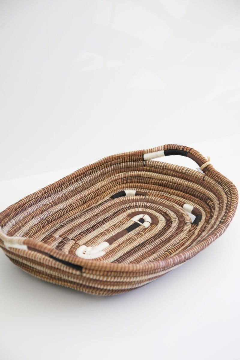 Colored Soil Woven Tray