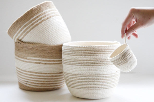 Jute and Cotton Baskets