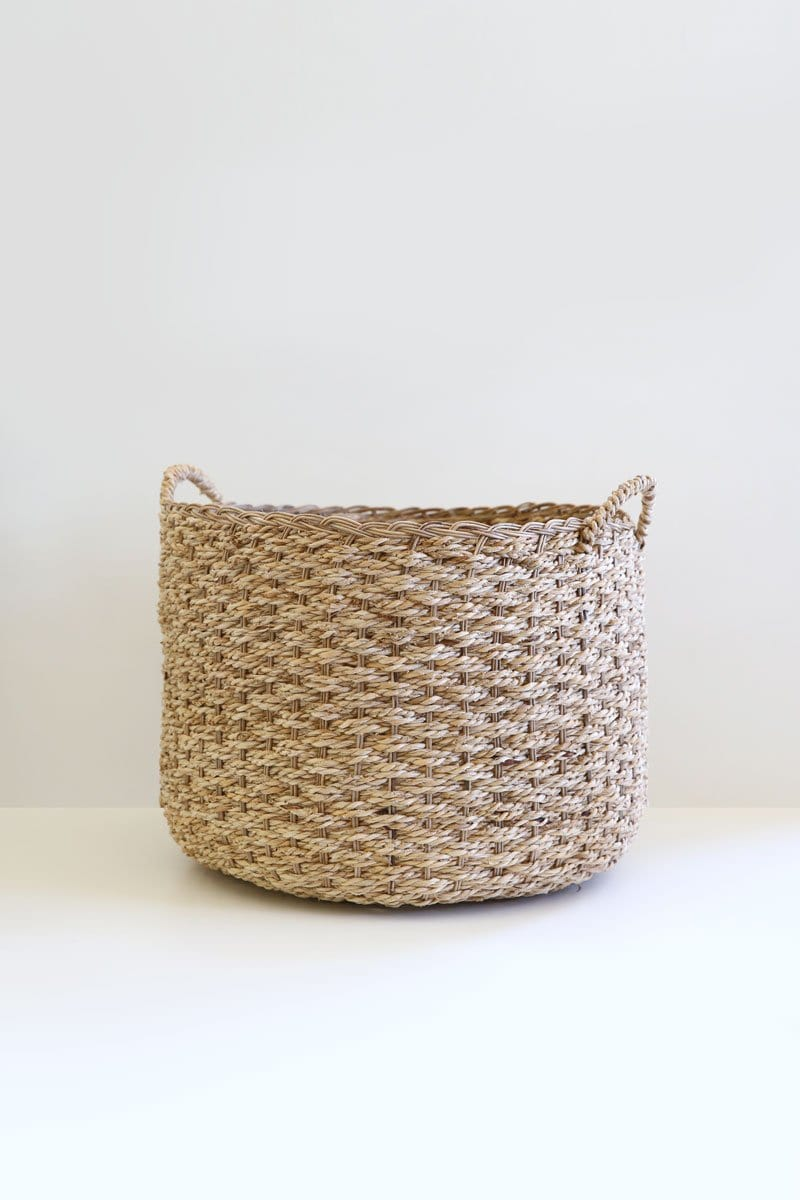 Wicker Banana Leaf Floor Basket