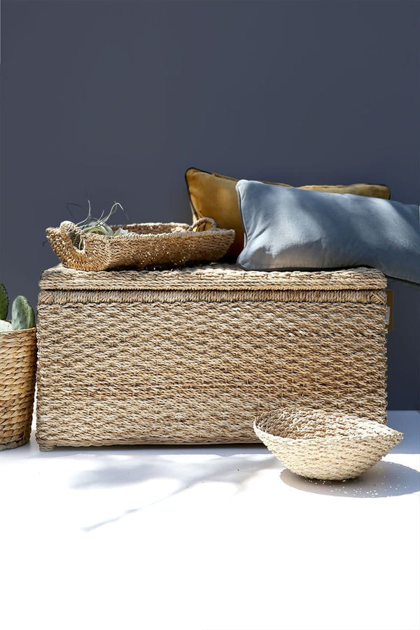 Wicker Banana Leaf Storage Trunk