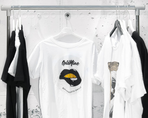 Black Lips Logo T-shirt white