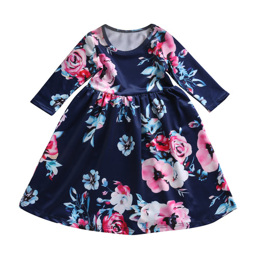 Childrens Floral Dress 2-7 yrs (Blue, White & Pink styles)