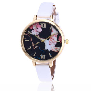 Fashion Floral Flower Watch - White