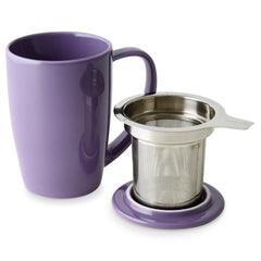 Tea Mug With Infuser - Purple