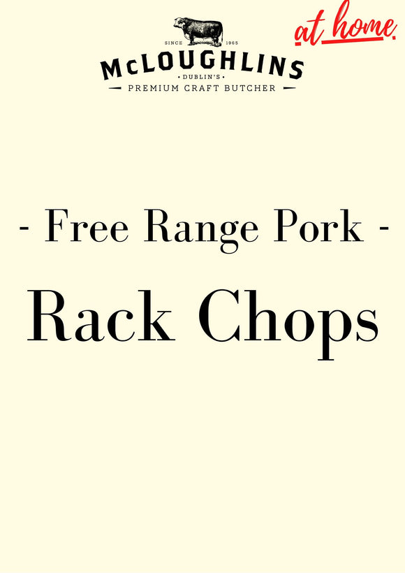 Free Range Pork Rack Chops x 4