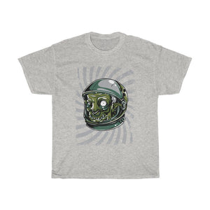 Green Monster with Helmet Unisex Heavy Cotton Tee - desseni