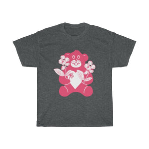 Pink Teddy Bear Unisex Heavy Cotton Tee