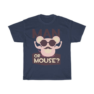 Man Or Mouse Unisex Heavy Cotton Tee - desseni