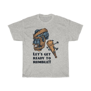 Let's Get Ready To Rumble!!! Unisex Heavy Cotton Tee - desseni
