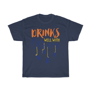 Drink Well With Others Unisex Heavy Cotton Tee - desseni