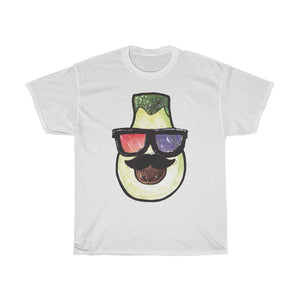 Pear Head With 3D Glasses Unisex Heavy Cotton Tee - desseni