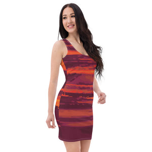 Sunset Women's Sublimation Cut & Sew Dress - desseni