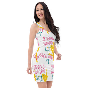 Strong Women's Sublimation Cut & Sew Dress - desseni